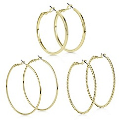 Red Herring - Gold hoop earring set