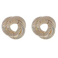 Red Herring - Gold swirl twist stud earring