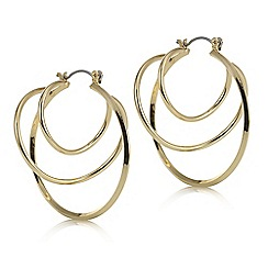 Red Herring - Gold swirl hoop 3d earring