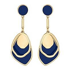 Red Herring - Blue enamel layered drop earring