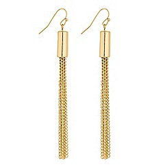 Red Herring - Gold tassel drop earring