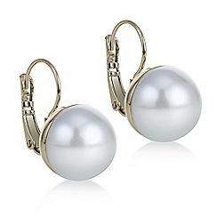 Red Herring - Cream pearl drop hook earring