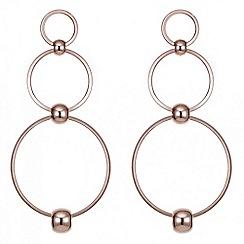 Red Herring - Rose gold multi hoop drop earring