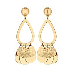 Red Herring - Gold multi teardrop earring