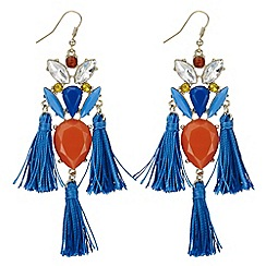 Red Herring - Tassel statement earring
