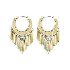 Red Herring - Gold bar hoop earring