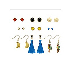 Red Herring - Fiesta multi colour earring set