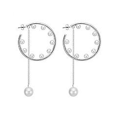 Red Herring - Pearl hoop earring