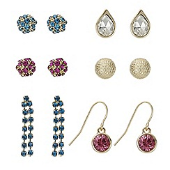 Red Herring - Multi colour earring pack