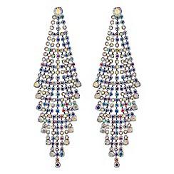 Red Herring - Aurora borealis diamante statement earrings