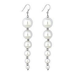 Red Herring - Graduated pearl drop earrings