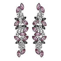 Red Herring - Purple crystal cluster earrings
