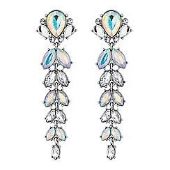 Red Herring - Aurora borealis crystal earrings