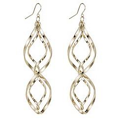 Red Herring - Rose gold swirl drop earrings