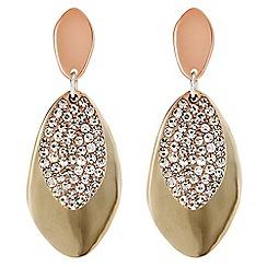 Red Herring - Multi tone pave jangle drop earrings