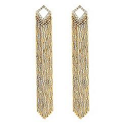 Red Herring - Gold tassel chain earrings