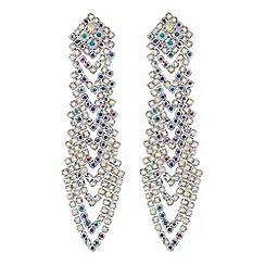 Red Herring - Aurora borealis chandelier earrings