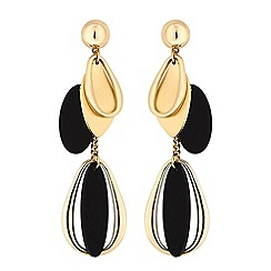 Red Herring - Gold layered droplet earrings