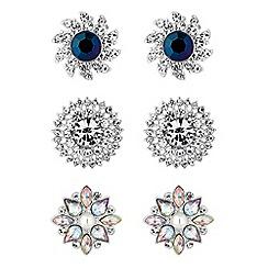 Red Herring - Ornate crystal earrings set