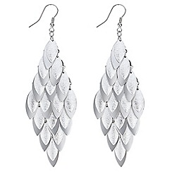 Red Herring - Silver shaker drop earrings