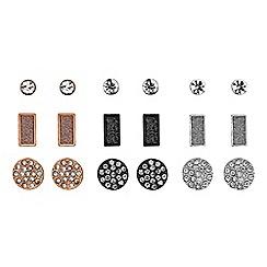 Red Herring - Multi tone crystal earrings set