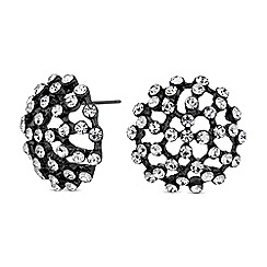 Red Herring - Crystal dome stud earrings
