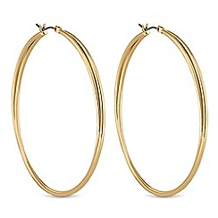 Red Herring - Gold twist hoops earrings