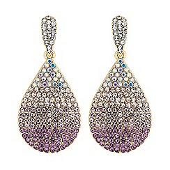 Red Herring - Pink crystal ombre drop earrings