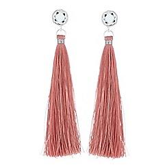 Red Herring - Pink tassel drop earrings