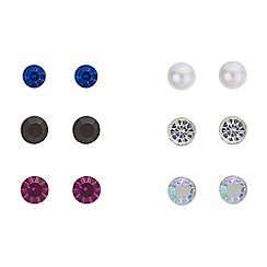 Red Herring - Multi colour stud earrings set