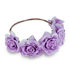 Red Herring - Online exclusive purple corsage garland