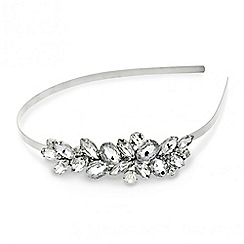 Red Herring - Oval and navette crystal side headband