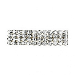 Red Herring - Diamante crystal rectangular hair barrette