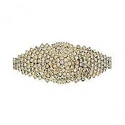Red Herring - Diamante crystal firework hair barrette