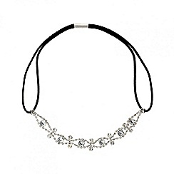 Red Herring - Diamante crystal wave stretch headband