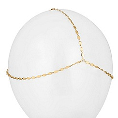 Red Herring - Three row gold oval link hair chain