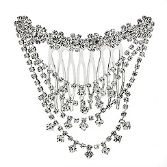 Red Herring - Diamante crystal hair bun comb