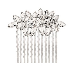 Red Herring - Crystal floral hair comb