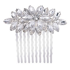 Red Herring - Flower centre crystal hair comb