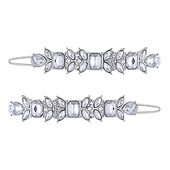 Red Herring - Set of two multi shape crystal hair slide pack