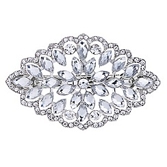 Red Herring - Crystal flower hair barrette