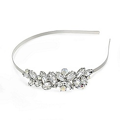 Red Herring - Aurora borealis crystal side detail headband