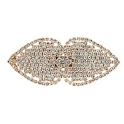 Red Herring - Rose gold diamante spade hair barrette