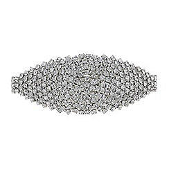 Red Herring - Silver diamante cluster hair clip