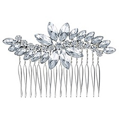 Red Herring - Silver crystal wave hair comb