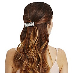 Red Herring - Silver crystal cluster hair clip