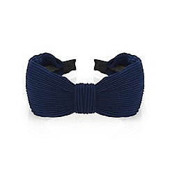 Red Herring - Navy pleated headband
