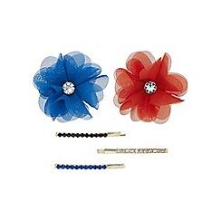 Red Herring - Flower hair slide set