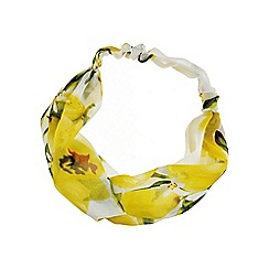 Red Herring - Yellow floral headband