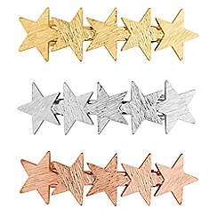 Red Herring - Multi tone star hair clip set